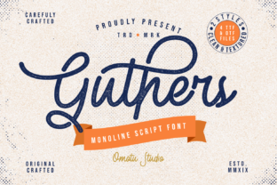 Guthers Font By Omotu