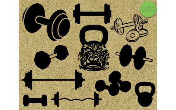 Print on Demand: Gym Lifting Weights Svg, Kettlebell Dxf Graphic Crafts By CrafterOks