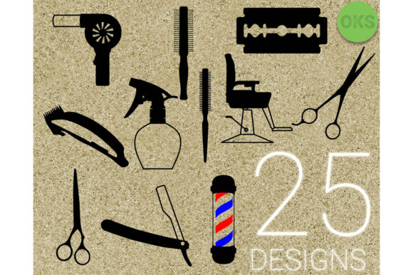 Download Free Hairdresser Barber Vector Graphic By Crafteroks Creative Fabrica for Cricut Explore, Silhouette and other cutting machines.