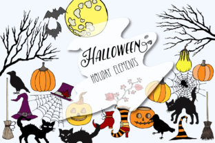 Halloween Holiday Colors Clip Art  Graphic By natalia.piacheva