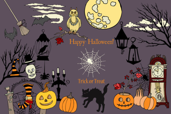 Halloween Holiday Colors Clip Art