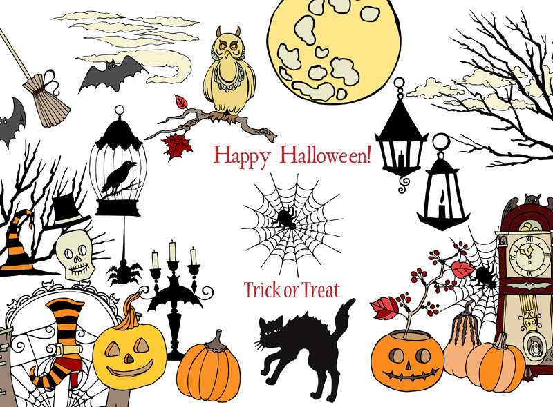 Download Free Halloween Colors Clip Art Graphic By Natalia Piacheva Creative for Cricut Explore, Silhouette and other cutting machines.