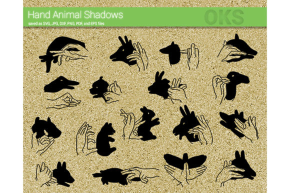 Download Free Hand Animal Shadow Svg Vector Graphic By Crafteroks Creative for Cricut Explore, Silhouette and other cutting machines.