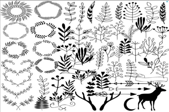Print on Demand: Hand Draw Clipart Graphic Illustrations By retrowalldecor