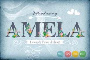 Hand Draw Flower Alphabet Graphic By Gleenart Graphic Design
