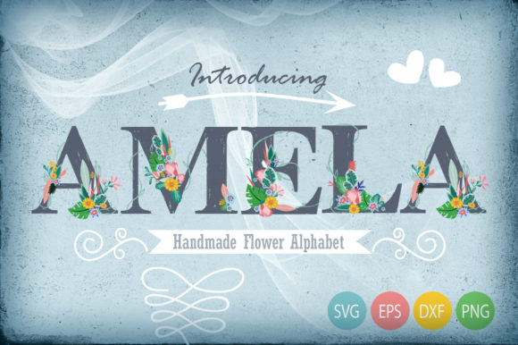 Hand Draw Flower Alphabet Graphic Illustrations By Gleenart Graphic Design