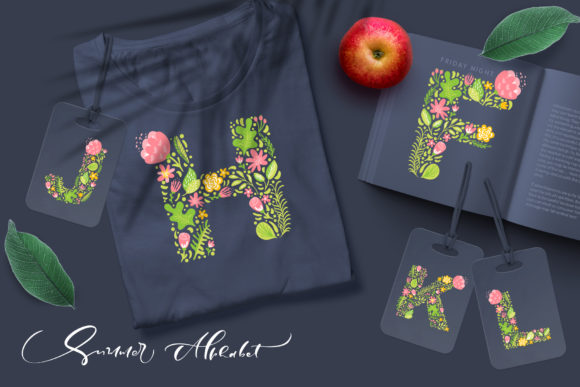 Hand Drawn Summer Flower Alphabet Graphic Illustrations By Happy Letters - Image 2