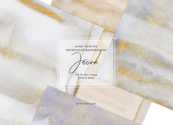 Hand Painted Watercolor Glittered Washes Graphic Textures By Patishop Art