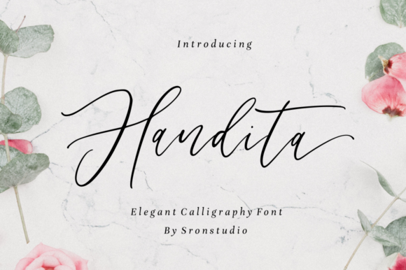 Print on Demand: Handita Script & Handwritten Font By Sronstudio