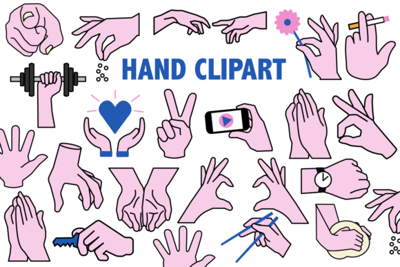 Print on Demand: Hands Clipart Graphic Icons By Mine Eyes Design