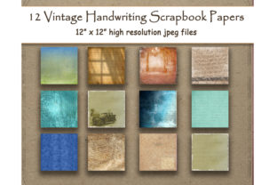 Download Free Handwriting Digital Paper Vintage Shabby Graphic By SVG Cut Files