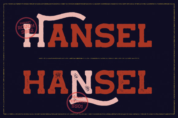 Print on Demand: Hansel Display Font By Viaction Type.Co - Image 3