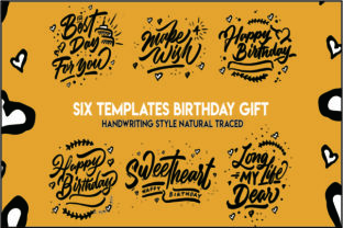 Print on Demand: Happy Birthday Hand Drawing Graphic Print Templates By Wasisme Studio