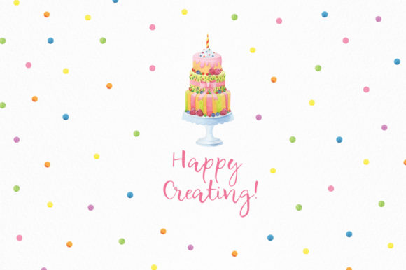 Print on Demand: Happy Birthday Watercolor Collection Graphic Illustrations By Nata Art Graphic - Image 11