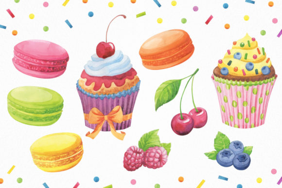 Print on Demand: Happy Birthday Watercolor Collection Graphic Illustrations By Nata Art Graphic - Image 3