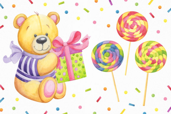 Print on Demand: Happy Birthday Watercolor Collection Graphic Illustrations By Nata Art Graphic - Image 6