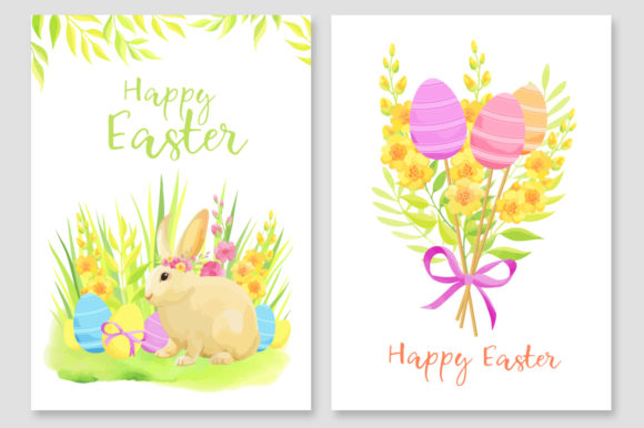 Print on Demand: Happy Easter Invitations Vector Set Graphic Print Templates By Nata Art Graphic - Image 4