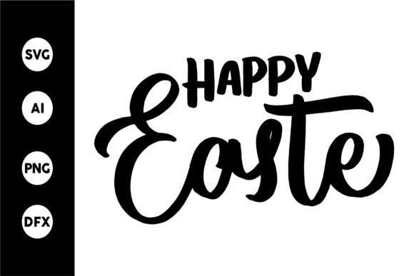 Print on Demand: Happy Easter SVG Graphic Crafts By goodjavastudio
