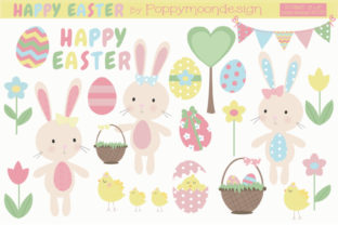 Print on Demand: Happy Easter Graphic Illustrations By poppymoondesign