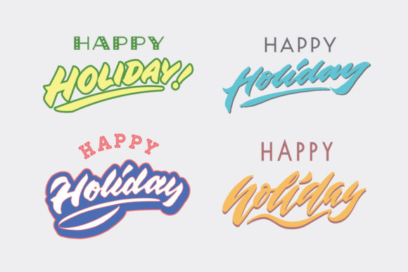 Happy Holiday Graphic By Sons Of Baidlowi