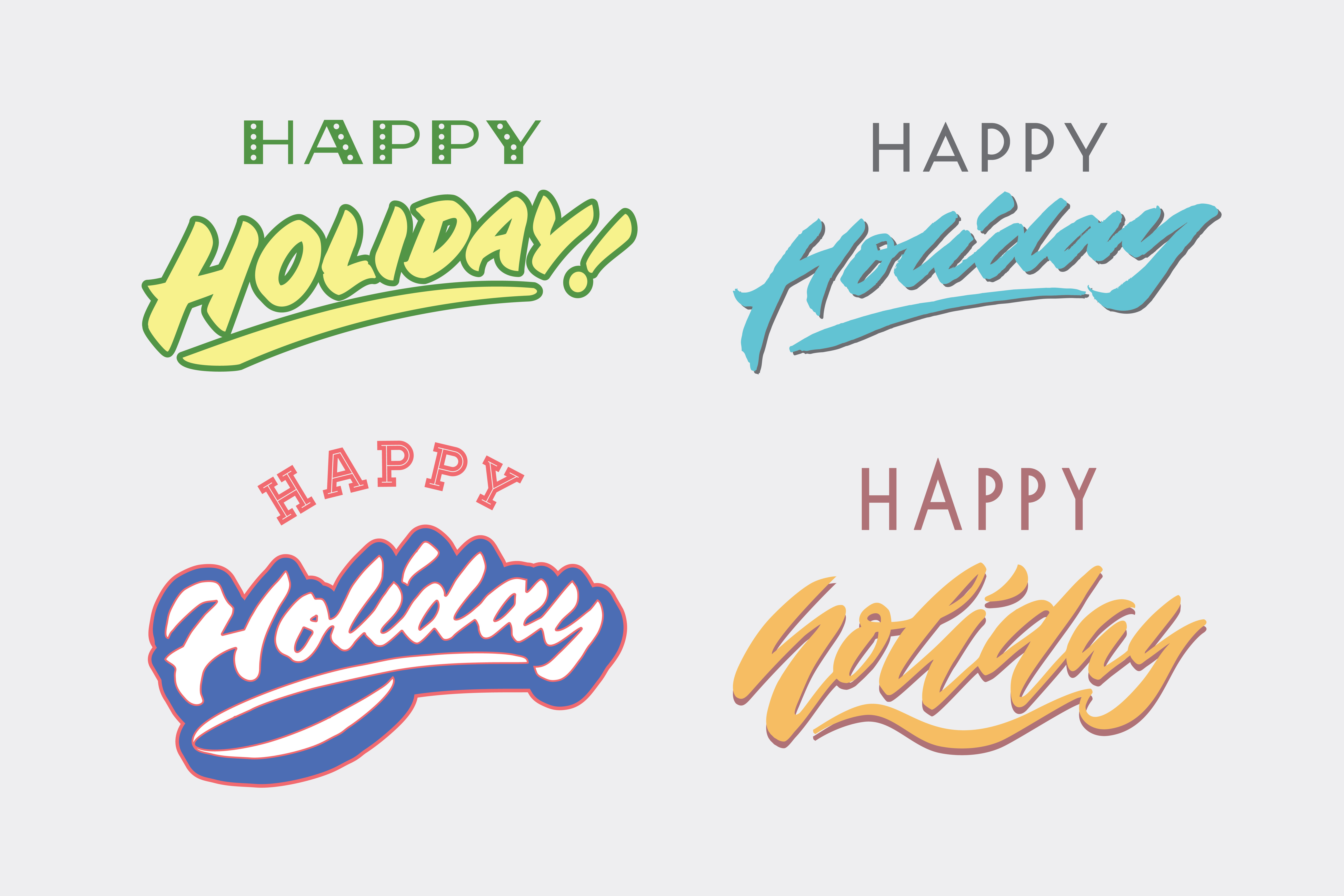 Download Free Happy Holiday Graphic By Brothers Graphic Creative Fabrica for Cricut Explore, Silhouette and other cutting machines.