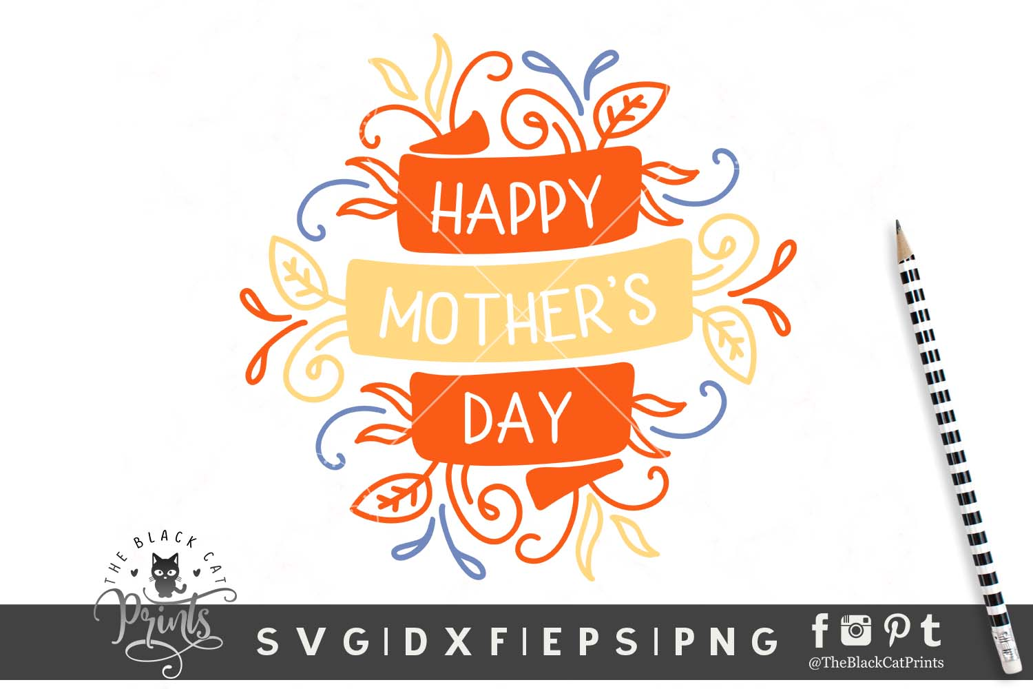 Download Free Happy Mother S Day Svg Grafico Por Theblackcatprints Creative for Cricut Explore, Silhouette and other cutting machines.