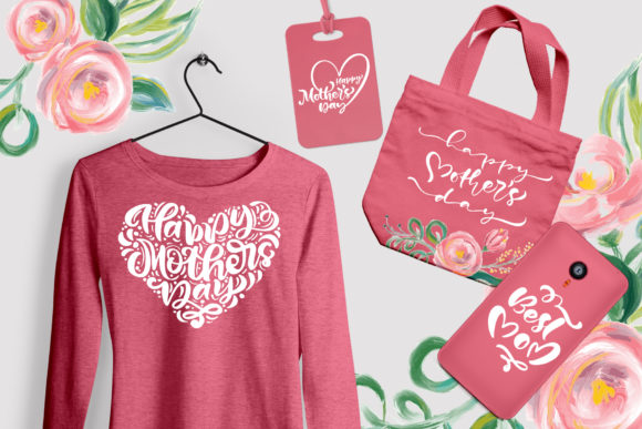 Happy Mother`s Day Vector Flower Graphic Illustrations By Happy Letters - Image 2