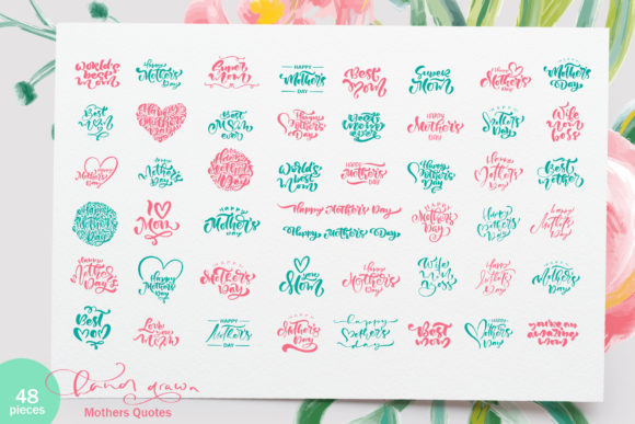 Happy Mother`s Day Vector Flower Graphic Item