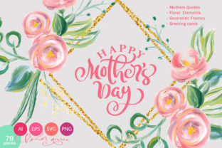 Happy Mother`s Day Vector Flower Graphic By Happy Letters