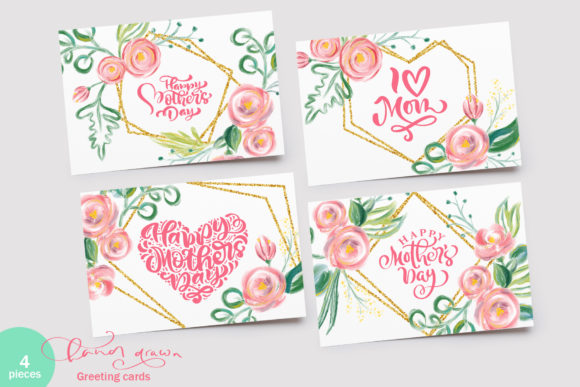 Happy Mother`s Day Vector Flower Graphic Preview