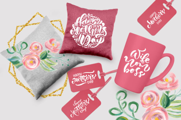 Happy Mother`s Day Vector Flower Graphic Illustrations By Happy Letters - Image 6