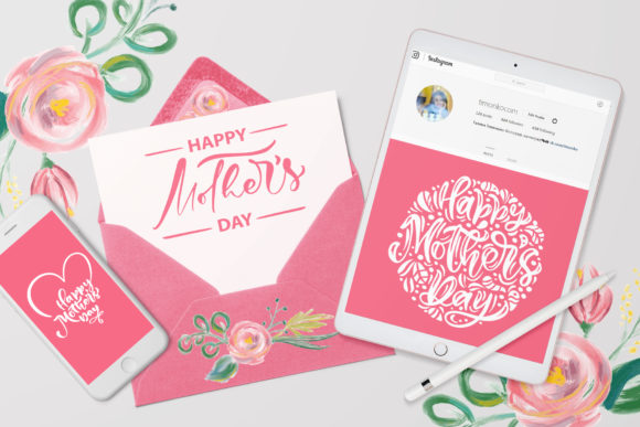 Happy Mother`s Day Vector Flower Graphic Illustrations By Happy Letters - Image 7