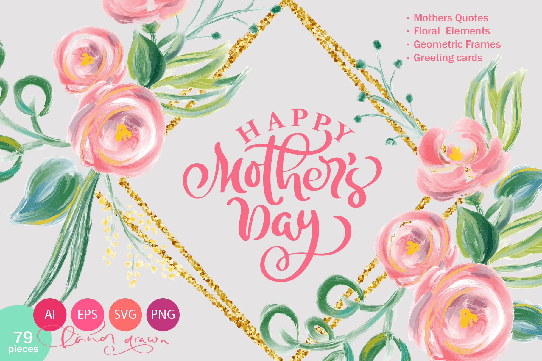 Download Free Happy Mother S Day Vector Flower Graphic By Happy Letters for Cricut Explore, Silhouette and other cutting machines.
