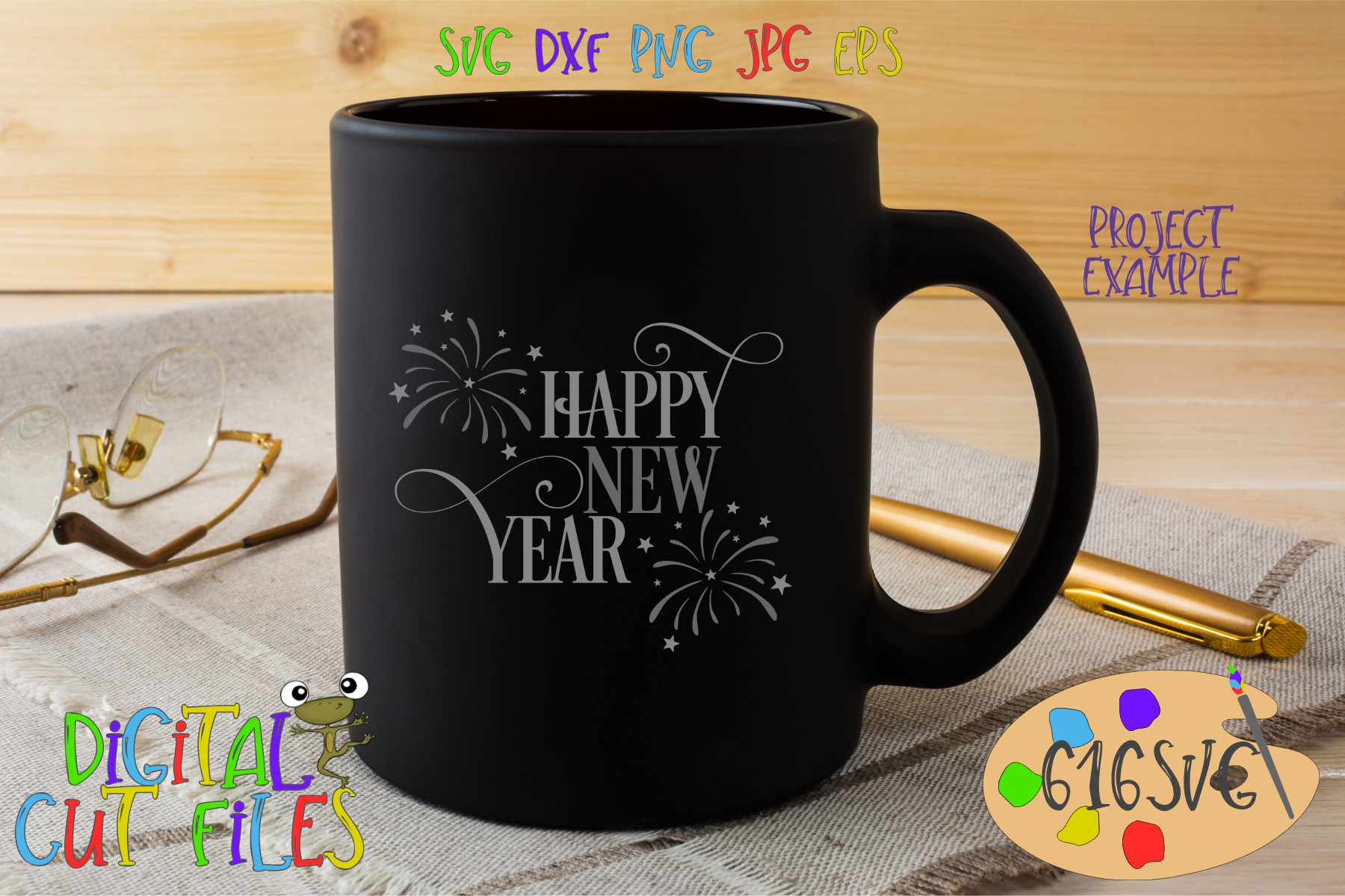 Download Free Happy New Year Svg Graphic By 616svg Creative Fabrica SVG Cut Files