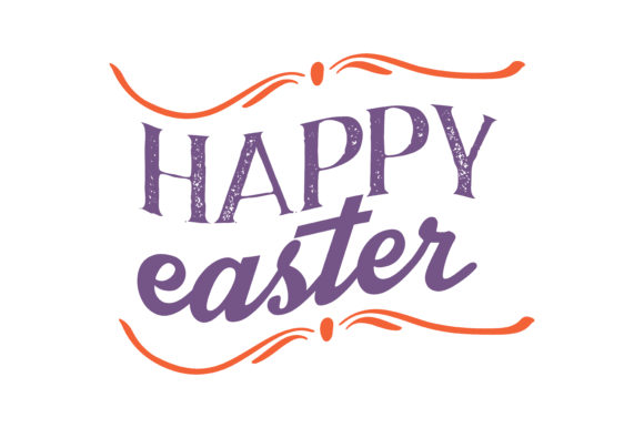 Download Free Happy Easter Quote Svg Cut Graphic By Thelucky Creative Fabrica for Cricut Explore, Silhouette and other cutting machines.