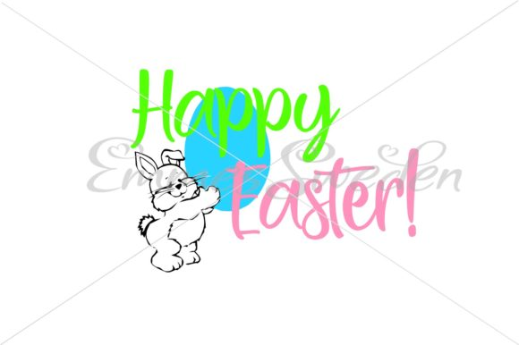 Download Free Happy Easter Bunny Svg Graphic By Emmessweden Creative Fabrica for Cricut Explore, Silhouette and other cutting machines.