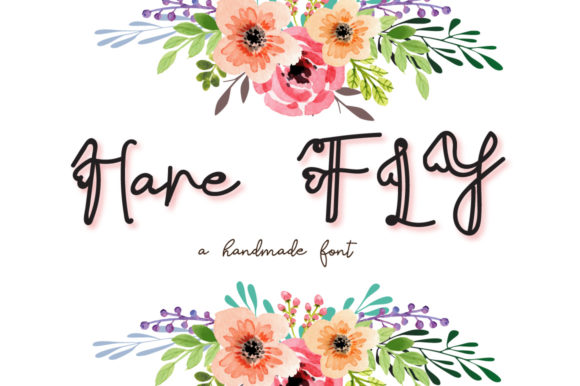 Print on Demand: Hare Fly Script & Handwritten Font By Autumn Designs
