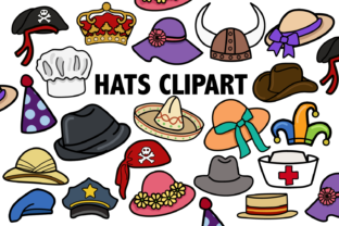 Hats Clipart Graphic By Mine Eyes Design