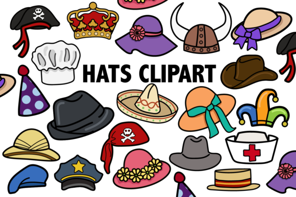 Print on Demand: Hats Clipart Graphic Illustrations By Mine Eyes Design