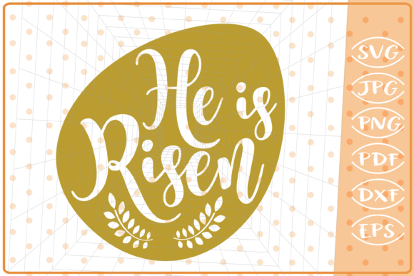 He is Risen SVG, Easter Cutting Files Graphic Crafts By Cute Graphic
