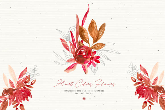 Print on Demand: Heart Colors Flowers Graphic Illustrations By webvilla - Image 3