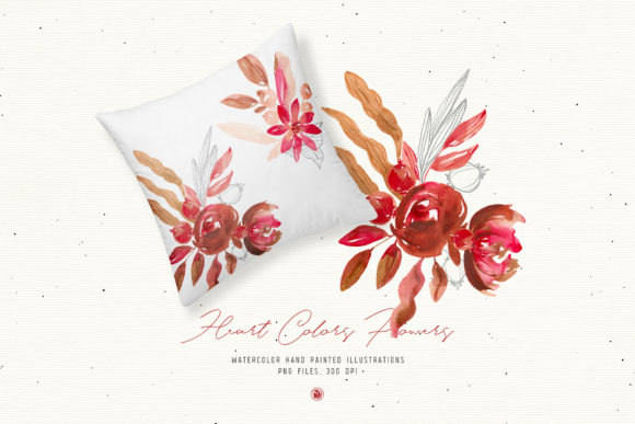 Print on Demand: Heart Colors Flowers Graphic Illustrations By webvilla - Image 4