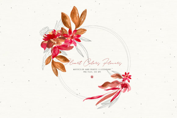 Print on Demand: Heart Colors Flowers Graphic Illustrations By webvilla - Image 5