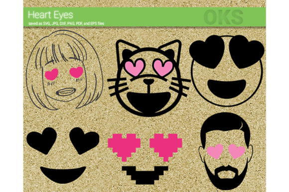 Download Free Heart Eyes Svg Vector Graphic By Crafteroks Creative Fabrica for Cricut Explore, Silhouette and other cutting machines.