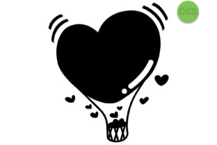Download Free Heart Hot Air Balloon Svg Vector Clipart Graphic By Crafteroks for Cricut Explore, Silhouette and other cutting machines.