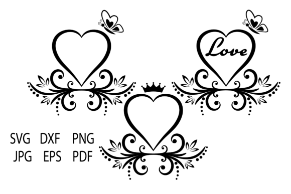 Print on Demand: Floral Heart Graphic Crafts By yulnniya
