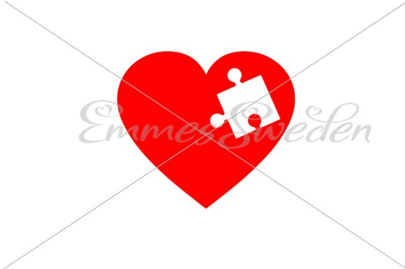 Download Free Heart Puzzle Svg Graphic By Emmessweden Creative Fabrica for Cricut Explore, Silhouette and other cutting machines.