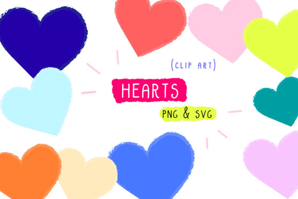 Print on Demand: Hearts Clip Art, Handmade Vector Set Graphic Icons By Inkclouddesign