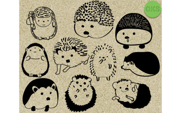 Download Free Hedgehog Vector Clipart Graphic By Crafteroks Creative Fabrica for Cricut Explore, Silhouette and other cutting machines.