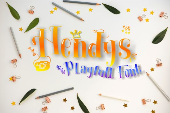 Print on Demand: Hendys Display Font By Muhammad Ersya